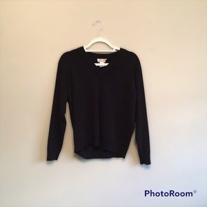 For The Republic V-neck black sweater. Size Small
